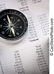 Operating budget and black compass