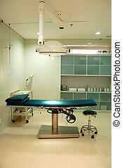 Operating room in hospital or surgery center without people