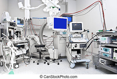Operating Room with alot of Medical Equipment