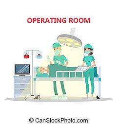Operating surgery room.