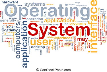 Operating system word cloud - Word cloud concept...