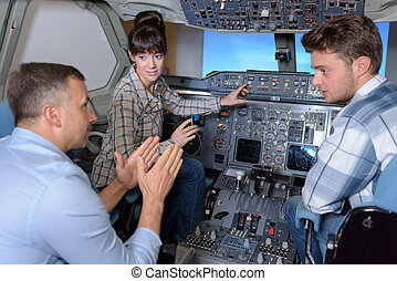 operating the simulator