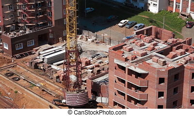 Operation of construction equipment. Building construction