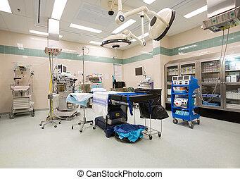 Interior of operation room