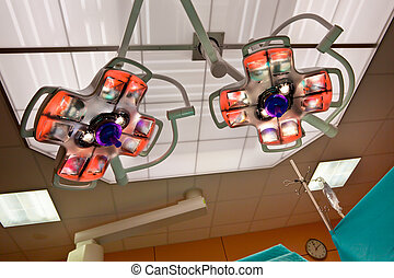 Operation Room Lights - Surgical Lamps in an Operation Room