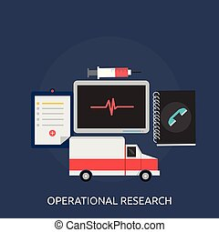 Operational research Conceptual illustration Design