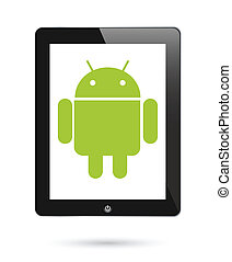 operationg, android, tabletten, systeem, digitale
