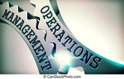 Operations Management - Shiny Metal Cog Gears . 3D -...