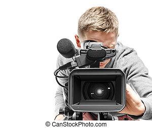 operator, aparat fotograficzny, video