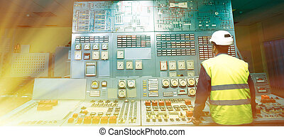 Operator at work place in the system control room