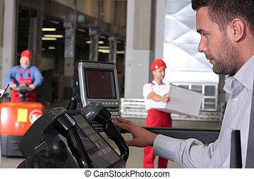 operator in warehouse
