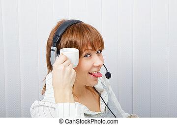 Operator on-line service. humor