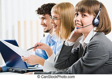 operator, przyjacielski, telefon