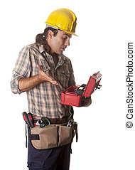 operator with toolbox