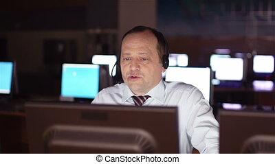 Operator working