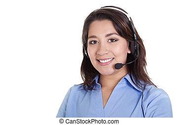 operatore, centro chiamata, femmina