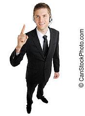 operatore, comunicazione, affari