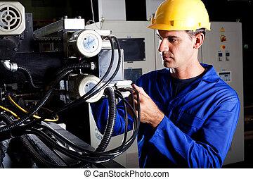 operatore macchina, industriale, moderno
