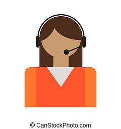operatoren, anruf- mitte, avatar