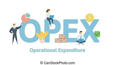 OPEX, Operational Expenditure. Concept with keywords,...