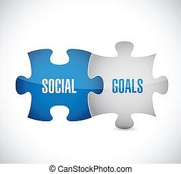 opgave, illustration, stykker, konstruktion, mål, sociale