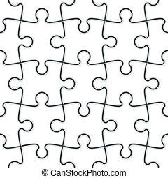 opgave, jigsaw, seamless
