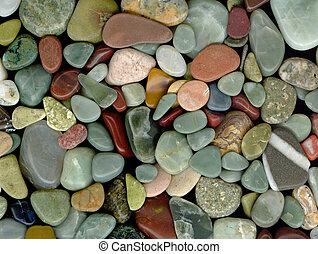 opgepoetste, rotsen