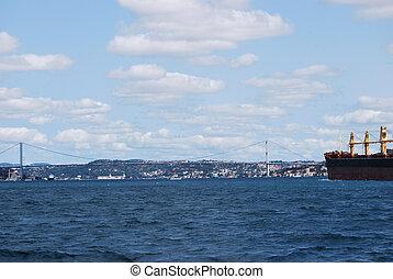 ophanging, schepen, bruggen