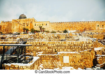 Ophel ruins in the Old city of Jerusalem