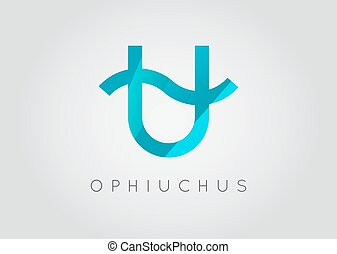 Ophiuchus Constellation. Detailed Stylish Zodiac Icon. Modern Style Drawing. Vector Illustration.