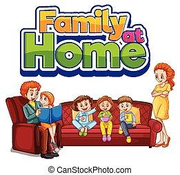 ophold, familie til hjem
