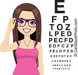 ophtalmologiste, girl