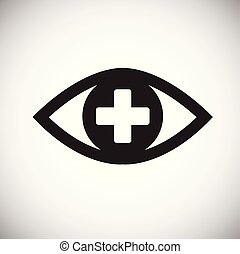 Ophtalmology eye icon on white background