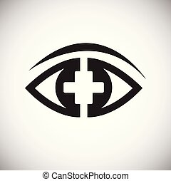 Ophtalmology eye on white background for app or web using - ...