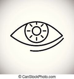 Ophtalmology line icon on background for graphic and web ...