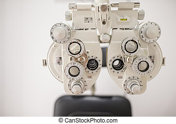Ophthalmic testing device machine