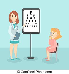 ophthalmologist., criança