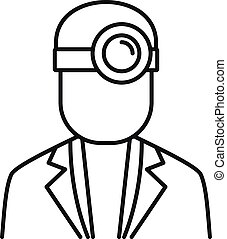 Ophthalmologist icon, outline style - Ophthalmologist icon. ...