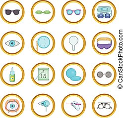Ophthalmologist vector set, cartoon style