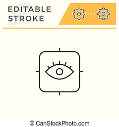 Ophthalmology line icon isolated on white. Editable stroke....
