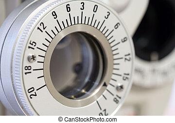 Ophthalmology machine closeup for checking eye