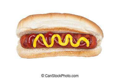 opieczony, hotdog