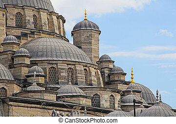opinión de la ciudad, mezquita, estambul, turco
