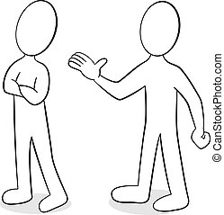 opinión, diferente, dos personas