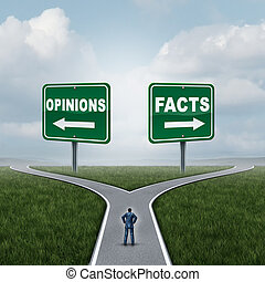 opiniões, fatos, ou