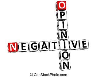 opinion, 3d, négatif, mots croisés
