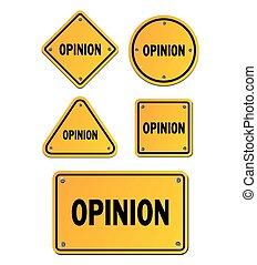 opinion, jaune, signes