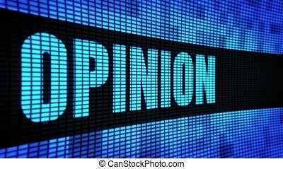 Opinion Side Text Scrolling LED Wall Pannel Display Sign...