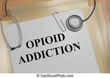 Opioid Addiction medical concept - 3D illustration of...