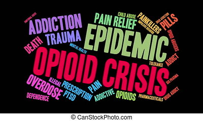 Opioid Crisis Word Cloud - Opioid Crisis word cloud on a...